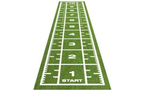 Sprinttrack voor sportscholen - Hoogwaardige kunstgras sprinttrack voor sportomgevingen