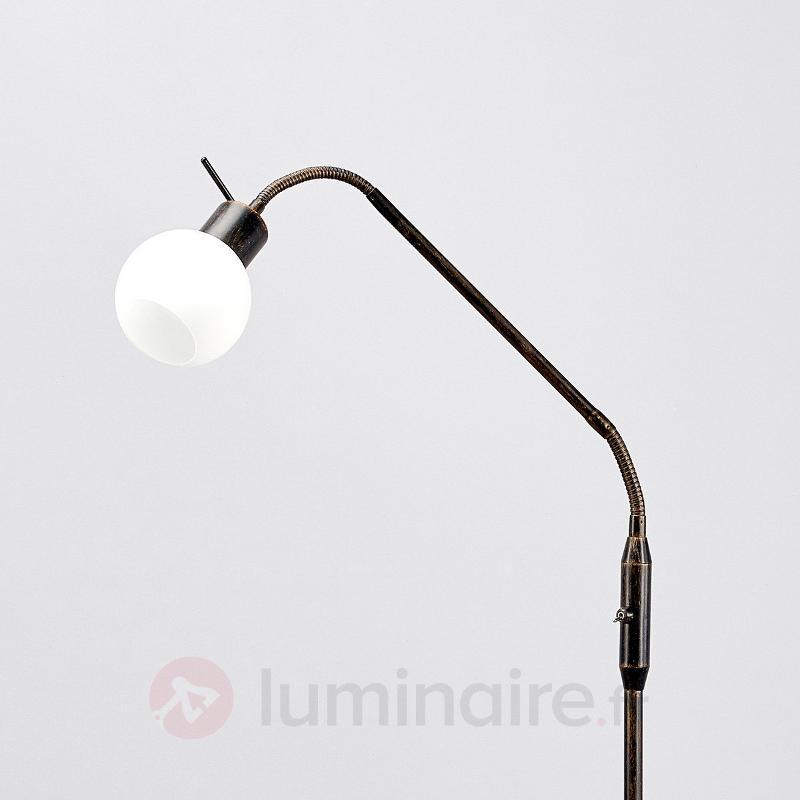 Lampadaire rustique LED Elaina, couleur rouille - Lampadaires LED