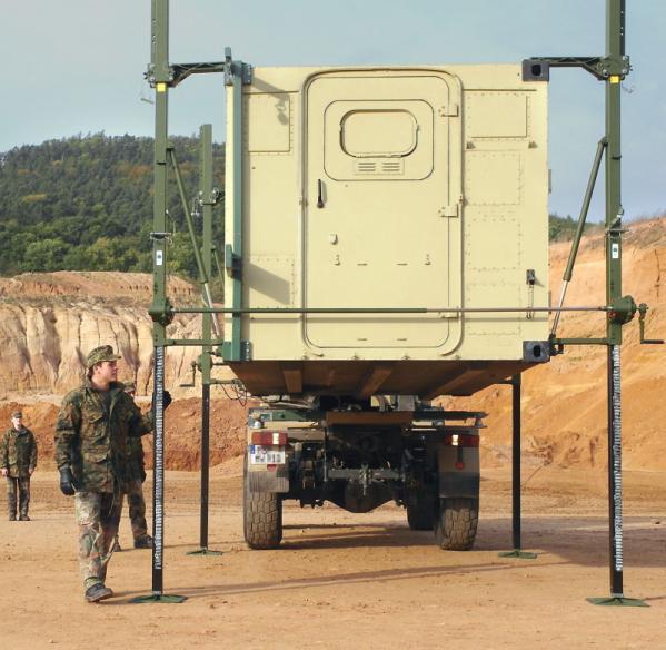 podnośnik - 1889.20 - Urządzenia podnoszące nadają się do podnoszenia i odkładania kontenerów z wózka.