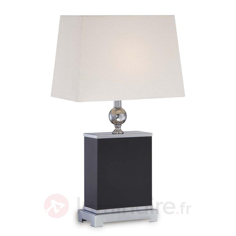 Lampe à poser carrée Estela - Lampes à poser en tissu
