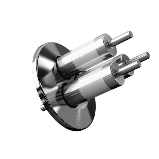 3-Fach Vakuumdurchführung mit KF-Flansch - null