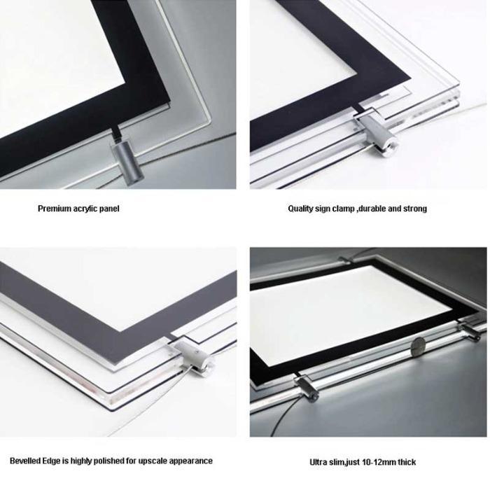 LED raampresentatie verlichte posterhouders A3 - posterlijst met LED verlichting A3