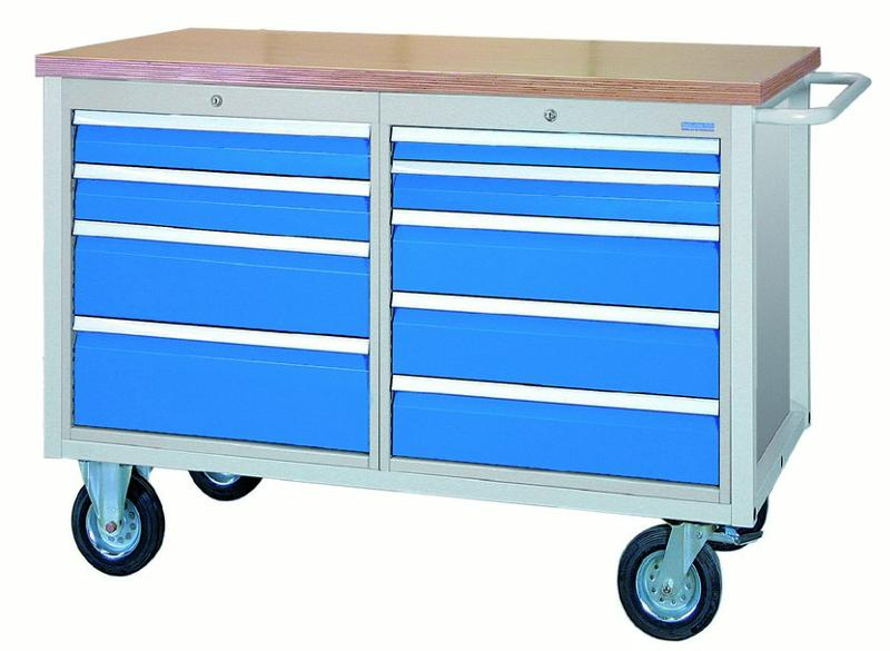 Mobile Workbench 1200 M with 9 drawers - 04.12.29VA