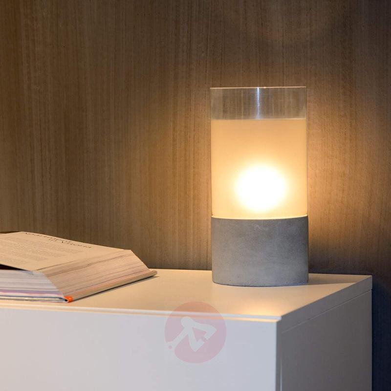 With concrete base - Kenn table lamp - indoor-lighting