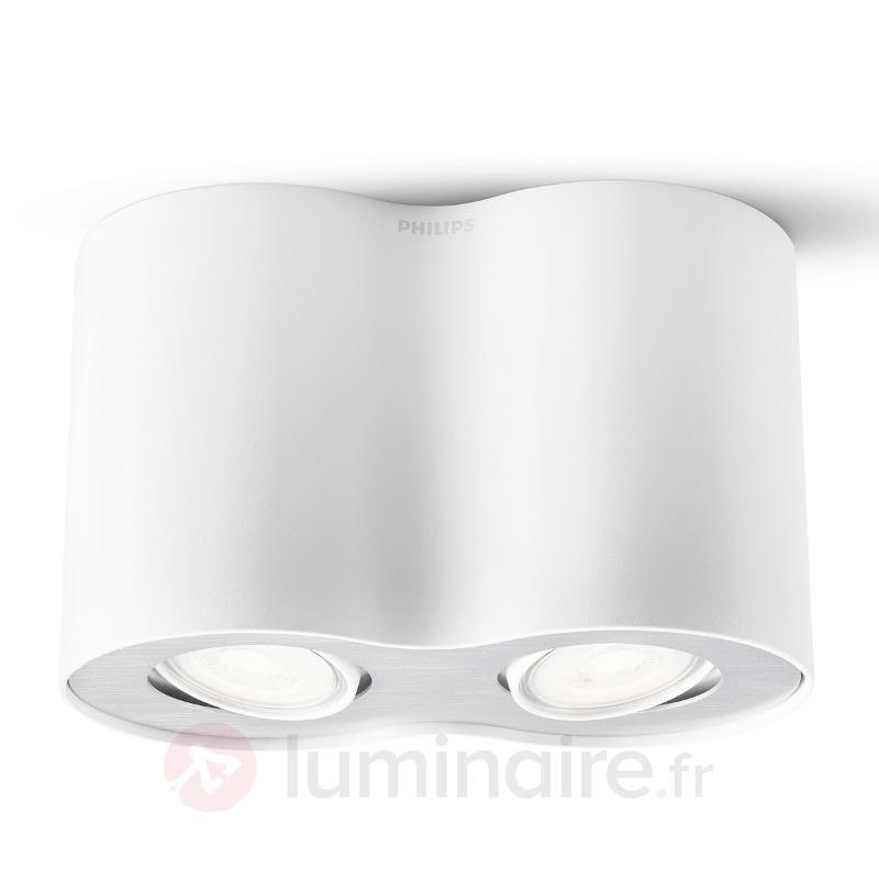 Plafonnier d'extérieur LED Pillar par 2 en blanc - Spots et projecteurs LED