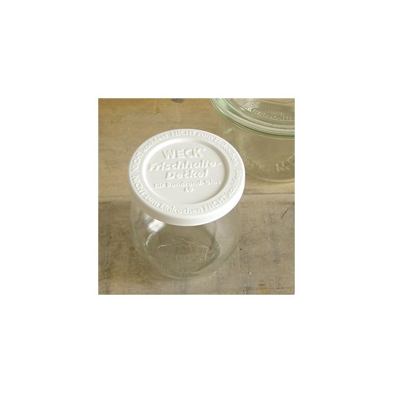 5 coperchi di conservazione di plastica WECK®  - diametro 60 mm