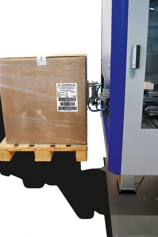 Fully automatic labelling of pallets PAE - Fully automatic labelling of pallets - PAE