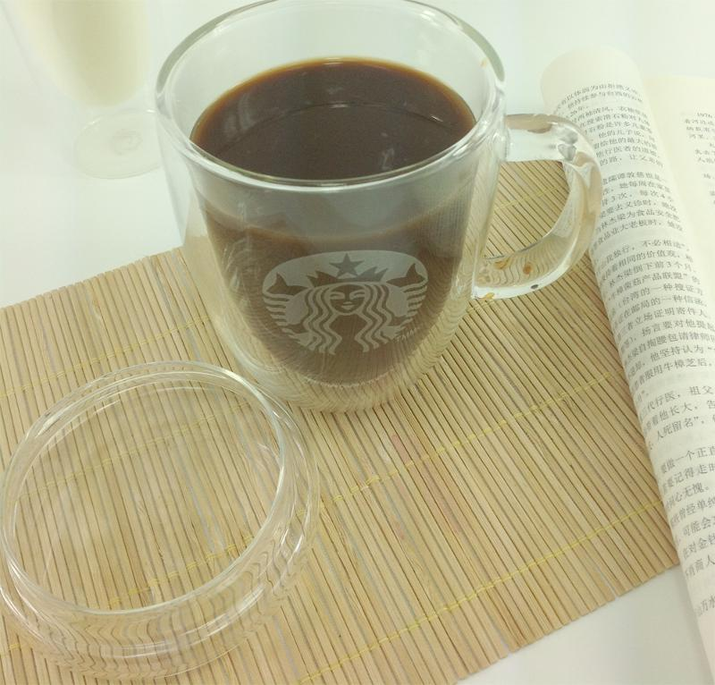 GLASS DOUBLE WALL CUP WITH GLASS LID - 400ML