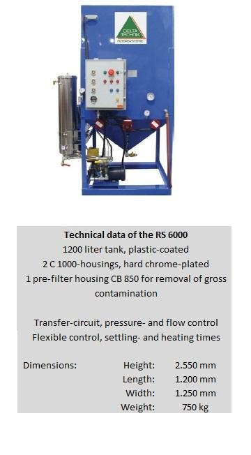 Oil recycling system RS 6000 - null