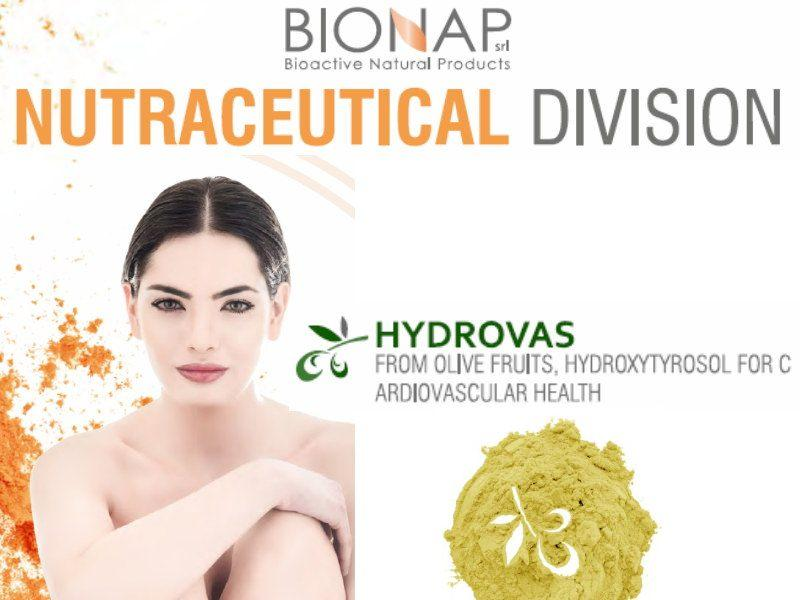 Hydrovas 10 - Natural nutraceutical ingredients - From olive fruits, hydroxytyrosol for cardiovascular health