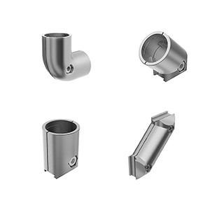 Connector for round tube/profiles - Right-angled, parallel or transverse connection of diameters 28 + 30 mm