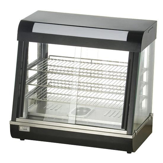 Cafeteria, Ice Cream and Bar Equipment - heated display with 3 levels and sliding glasses, tabletop,