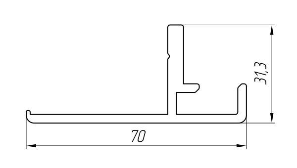 Aluminum Profile For Doors Ат-3028 - Interior aluminum profile