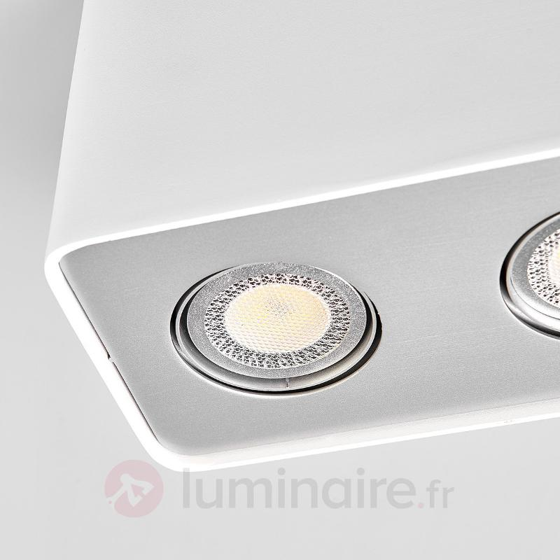 Downlight LED GU10 Giliano à trois lampes, blanc - Plafonniers LED
