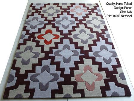 Hand Tufted Modern Design Carpet in 100% Wool Pile - Modern Design Hand Tufted Rug in 100% Nz Wool Pile