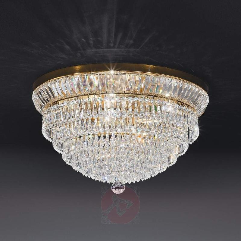 Exclusive NEW ORLEANS crystal ceiling light, gold - Ceiling Lights