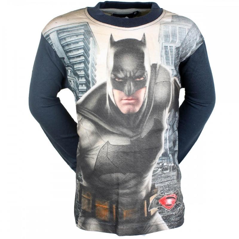 10x T-shirts manches longues Batman-Superman du 4 au 8 ans - T-shirt et polo manches longues