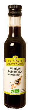 vinaigre balsamique de Modène  - 6 % d'acidité la Cigale Provençale