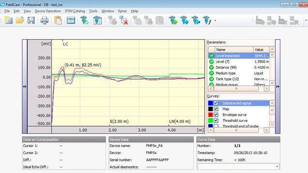 logiciels gestion equipements - configuration appareils fieldcare sfe500