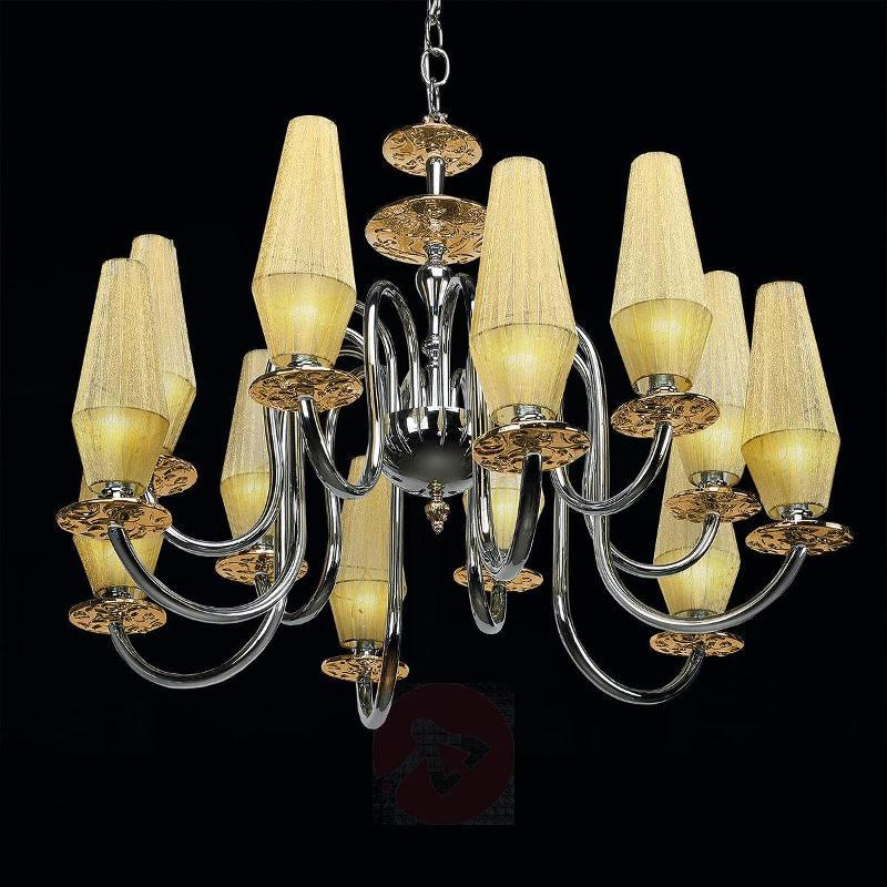 Luxury chandelier Karma in amber, 12-bulb - Chandeliers