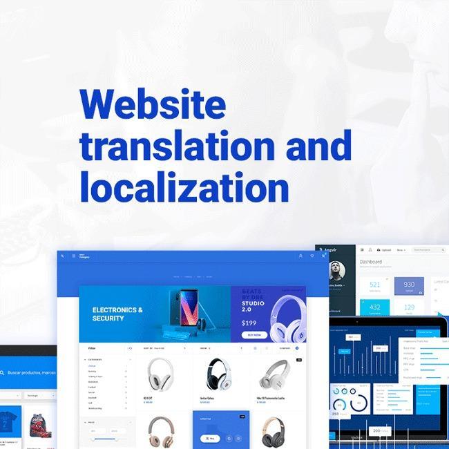 Website localization - SEO-friendly website translation and localization.
