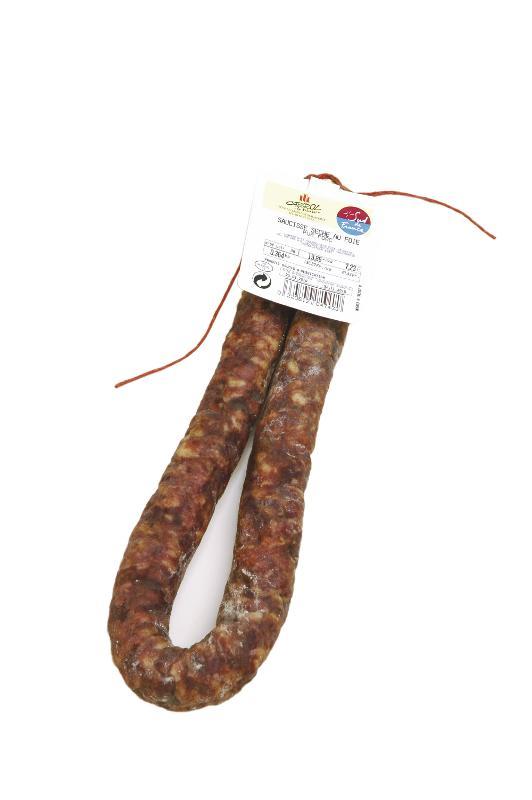 Saucisse Sèche au Foie 300 gr - Viande et volailles