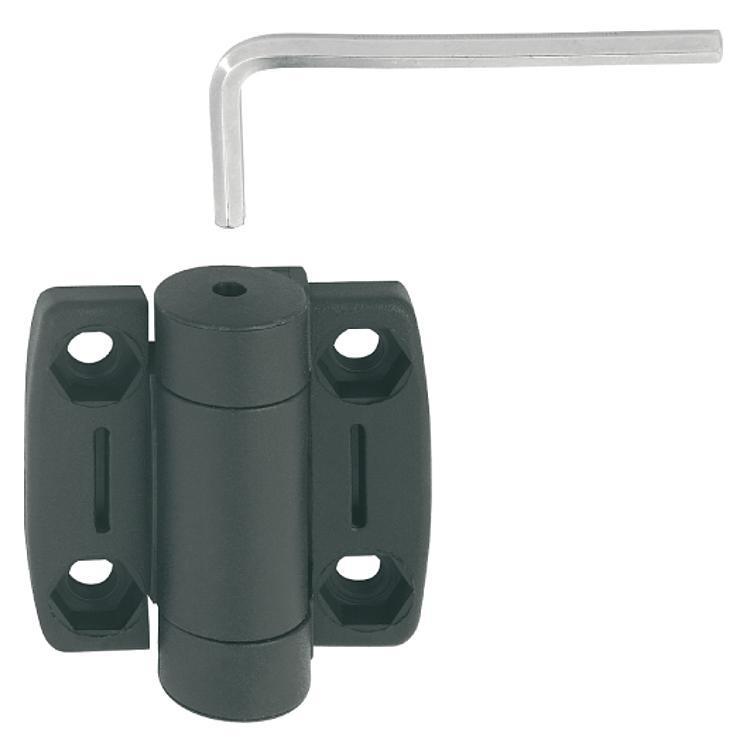 Charnière en thermoplastique avec friction réglable - Charnières