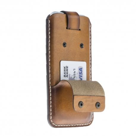 Funda cartucho de cuero Vintage para IPhone 7-8 Plus -