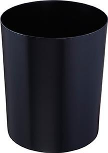 Z16001 - Sicherheitspapierkorb aus Stahl 6L, feuerfest - schwarz