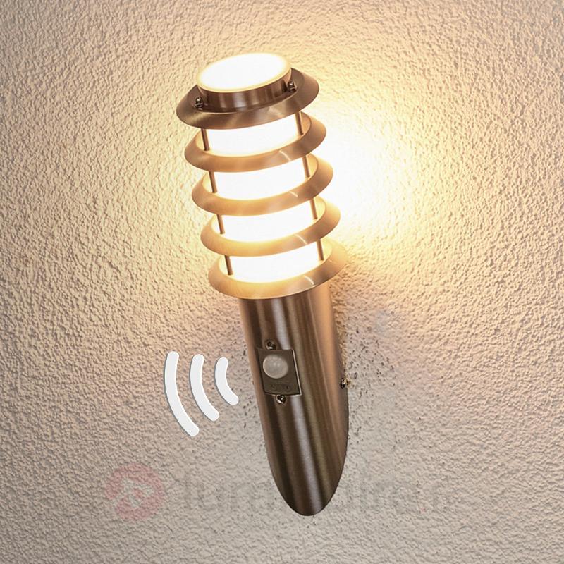 Applique ext. en forme de torche, détecteur Selina - Appliques d'extérieur avec détecteur