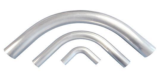 Aluminium pipe bends - null