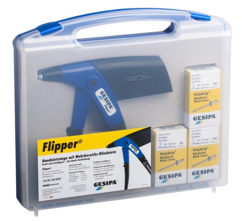 Flipper Box (Blind rivet hand tool) - Hand rivet tool for easy handling with only one hand