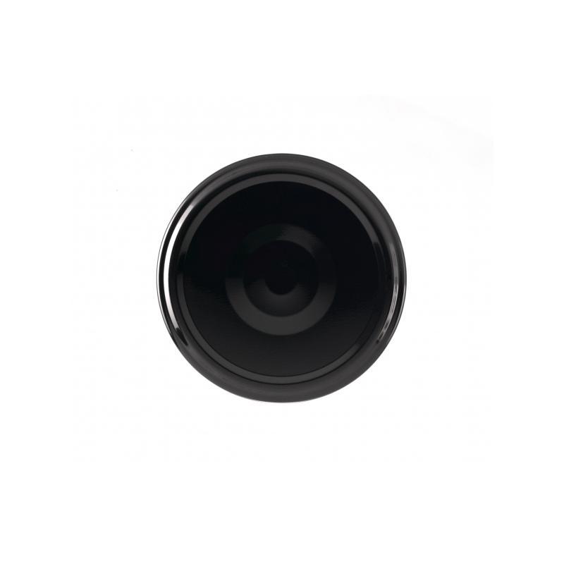 100 Capsules TO 70 mm noires stérilisables avec Flip - NOIR
