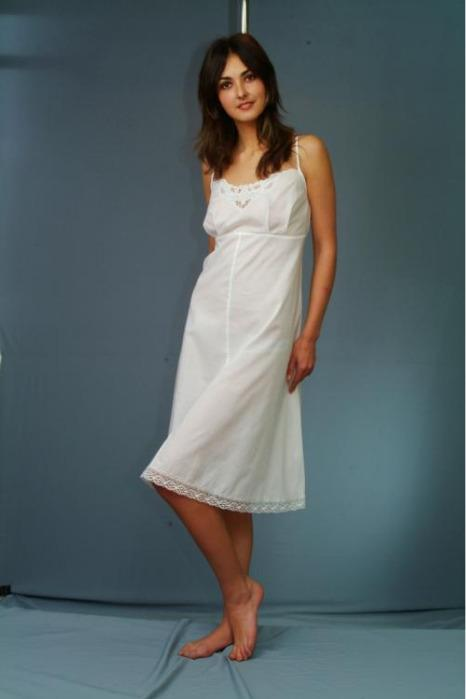 """Nightgown with embroidery """"Richelieu"""" -"""