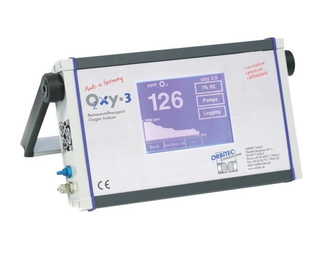 Oxy 3 - Oxygen Analyzer for monitoring ID purge quality for inert gases - Oxy 2, Orbitec