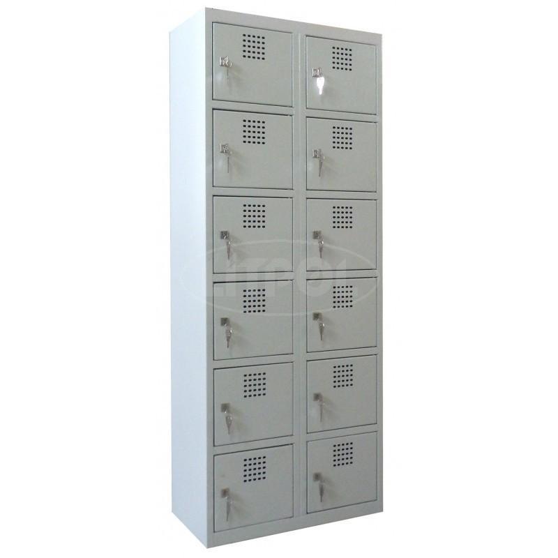 Металлический шкаф (локер) для магазинов ячеечный на 12 отде - Модель Sus 326
