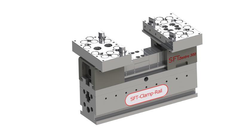 Zentro 300 mit Spannschiene 300 x 80 mm - null