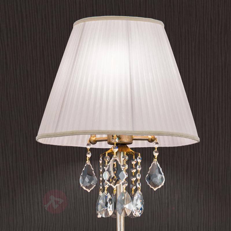 Lampadaire textile Miramare avec cristal - Lampadaires en tissu
