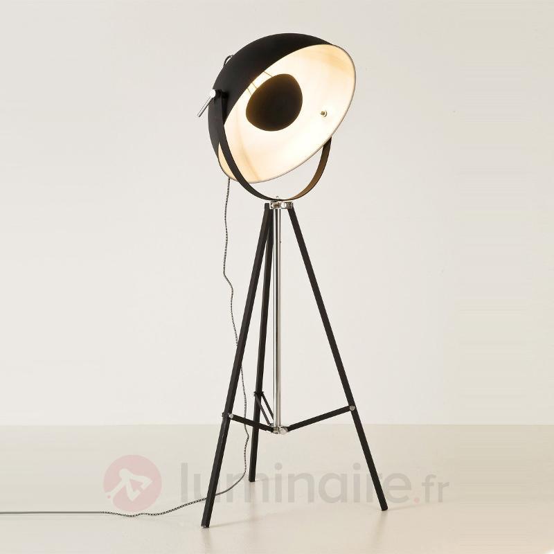 Lampadaire à éclairage indirect BOWL noir - Lampadaires design