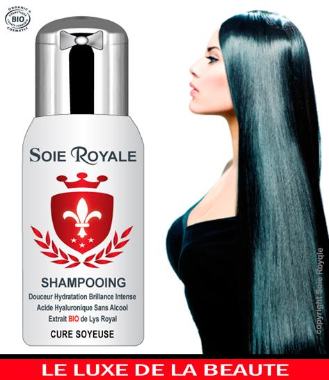 Shampooing Soie Royale BIO Cure Soyeuse® - Soin Hydratation Brillance Intense Cheveux Corps.