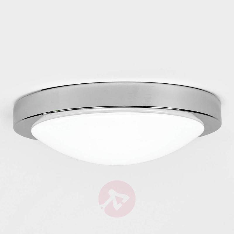 Aras LED bathroom ceiling lamp, sensor, chrome - Ceiling Lights with Sensor
