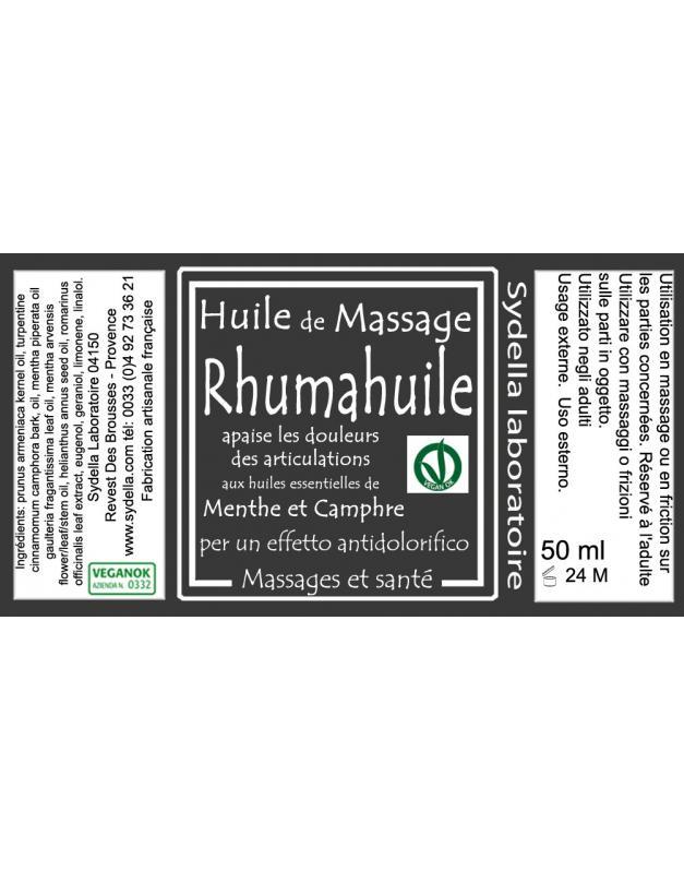 Rhumahuile - Produits de massage