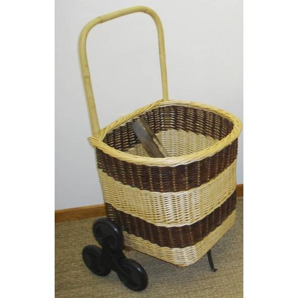 Chariot à bois carré 6 roues bicolore - null