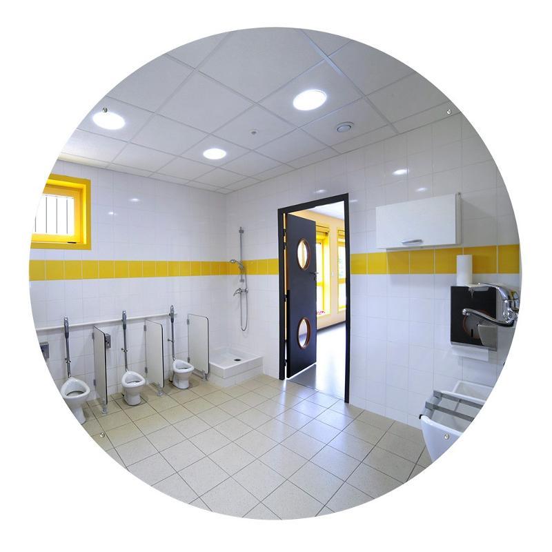 Miroir sanitaire plat Plexi+ - Sans cadre - Mobilier urbain
