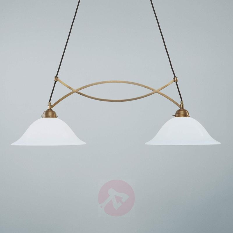 ELISE hanging light made of brass, handmade - design-hotel-lighting