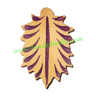 Handmade wooden fancy pendants, size : 49x32x5mm - Handmade wooden fancy pendants, size : 49x32x5mm