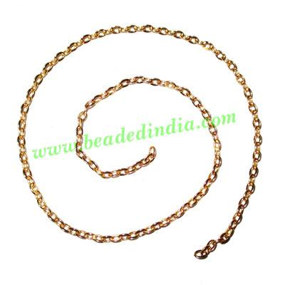 Gold Plated Metal Chain, size: 0.5x3mm, approx 85.1 meters i - Gold Plated Metal Chain, size: 0.5x3mm, approx 85.1 meters in a Kg.