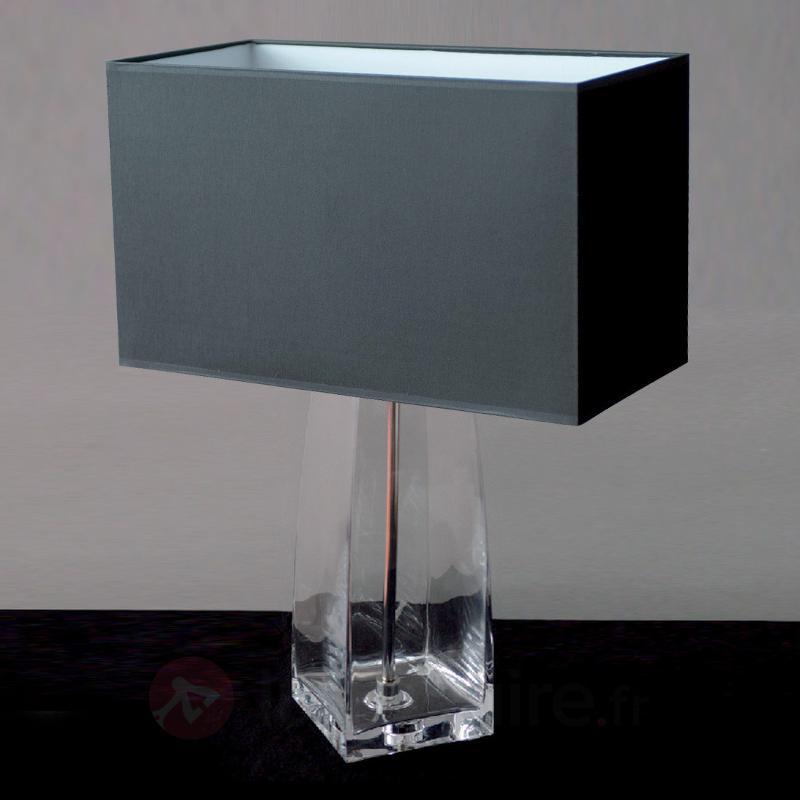 Lampe à poser classique CHRISTINA pied transparent - Lampes à poser en tissu