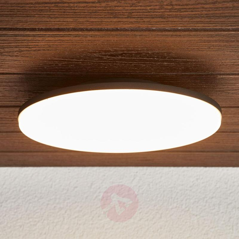 Benna - round LED ceiling lamp for outdoors, IP65 - outdoor-led-lights