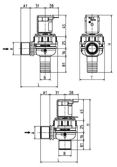 Electrovanne servo-commandée NF, DN 17 - 01.017.115